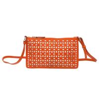 AlaiaOrange Laser Cut Shoulder Bag