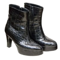 1stdibsAligator Platform Boots