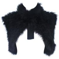 1stdibsElizabeth Mason Couture Silk Marabou Bolero Caplet With Tassels