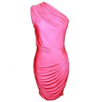 1stdibsEmilio Pucci Pink One-shoulder Silk Jersey Dress