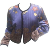 1stdibsExotic Silk Paisley Floral Quilted Jacket By Worth