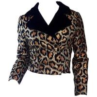 1stdibsLate 50s / Early 60s Leopard Cheetah Print Silk Metallic Cropped Bolero Jacket