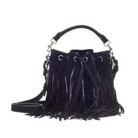 Saint LaurentEmmanuelle Bucket Bag Chain Fringe Suede Small