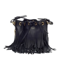 Saint LaurentFringe Emmanuelle Bucket Bag Leather Small