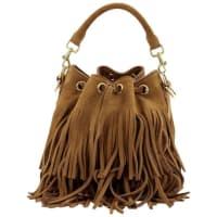 Saint LaurentFringe Emmanuelle Bucket Bag Suede Small