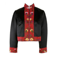 1stdibsShanghai Tang Black & Red W/embroidery And Beading Mandarin Jacket