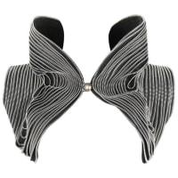 1stdibsSohung Designs C.2010 Hand Made Black Silver Zipper Trim Structured Bolero Vest