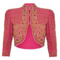 1stdibsSpectacular 1930s Pink Silk Beaded Bolero Jacket