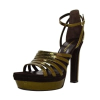 1stdibsTamara Mellon Bronze Supreme 105 Metallic Platform Sandals Sz 39.5 Rt. $895