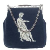 1stdibsUnique Needlepoint Figural Harpist Handbag C 1970