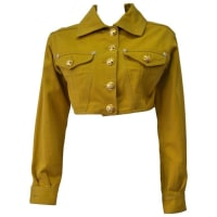 1stdibsVersace Jeans Couture Gold Haute Denim Bolero Jacket