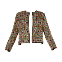 1stdibsVintage Stained Glass Sequin + Beaded Trophy Jacket