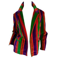 1stdibsWonderful Vintage I. Magnin 70s Rainbow Striped Velvet Blazer Jacket