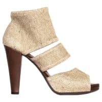 1stdibsYves Saint Laurent Beige Heeled Sandals