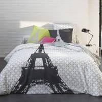 3Suisses CollectionDekbedovertrek met Eiffeltorenprint STRUCTURE