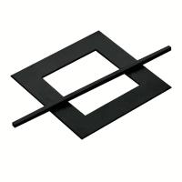 3Suisses CollectionVierkante gordijnophouder + pin in gelakt hout