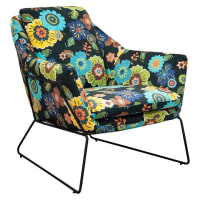 6ixtyFloral Cube Chair