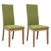 6ixtySociety Oak Dining Chair (Set of 2)