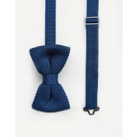 7XKnitted bow Tie Navy in Box - Navy