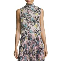 A.L.C.Phoebe Sleeveless Floral Silk Top, Pink/Blue/Mustard