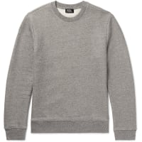 A.P.C.Loopback Stretch Cotton-blend Jersey Sweatshirt - Gray