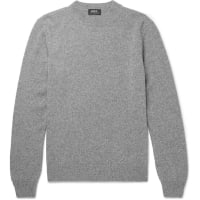 A.P.C.Mélange Wool And Cashmere-blend Sweater - Gray