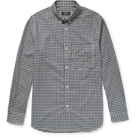 A.P.C.Slim-fit Button-down Collar Gingham Cotton Shirt - Navy