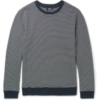 A.P.C.Striped Cotton Sweater - Navy