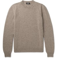 A.P.C.Wool And Cashmere-blend Sweater - Beige