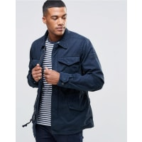 Abercrombie & FitchCoat With Chest Pockets in Navy - Navy