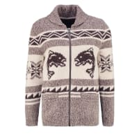 Abercrombie & FitchTROUT COWICHAN Cardigan med grey flat