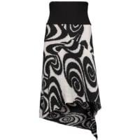 Acne StudiosAsymmetric Ribbed-knit Wool Skirt - Black