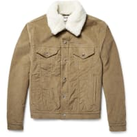 Acne StudiosBeat Faux Shearling-trimmed Padded Stretch-corduroy Jacket - Tan