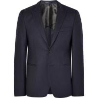 Acne StudiosBlue Stanford Slim-fit Herringbone Wool Suit Jacket - Midnight blue