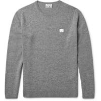 Acne StudiosDasher Mélange Wool Sweater - Gray