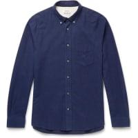 Acne StudiosIsherwood Button-down Collar Cotton-flannel Shirt - Navy