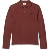 Acne StudiosKolby Slim-fit Cotton-piqué Polo Shirt - Burgundy