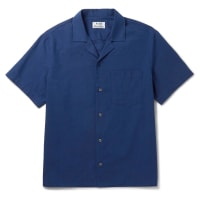 Acne StudiosOdy Camp-collar Cotton Shirt - Blue