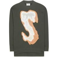 Acne StudiosKarvel cotton-blend sweatshirt with appliqué