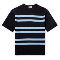 Acne StudiosStriped Ribbed-knit T-shirt - Black