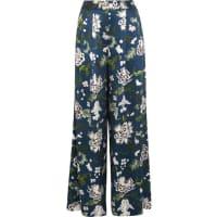 Adam LippesFloral-print Silk-charmeuse Wide-leg Pants - Navy