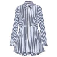 Adam LippesStriped Cotton-poplin Shirt - Navy