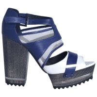 ADEAMPre-Owned - Navy Leather Heels