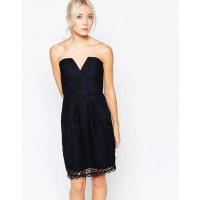 Adelyn RaeStrapless Lace Dress - Multi