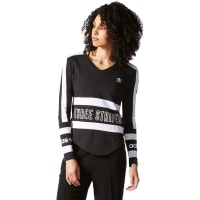 adidas3 Stripes W Longsleeves Longsleeve schwarz weiß schwarz weiß