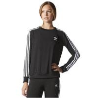 adidasAdidas 3 Stripes - Sweatshirt für Damen - Schwarz