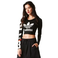 adidasBasketball Number Crop W Top schwarz