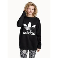 adidasLong athletic logo sweater