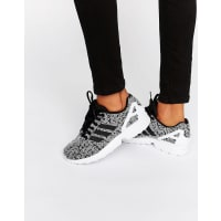 adidasOriginals Black Print Zx Flux Sneakers With Side Stripes - Multi