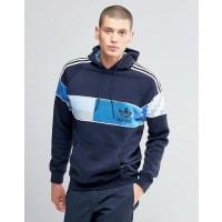 adidas OriginalsCamo - Kapuzenpullover in Blau, AY8286 - Blau